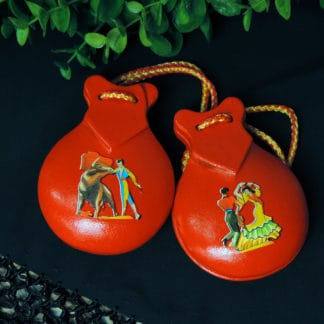 red wood castanets