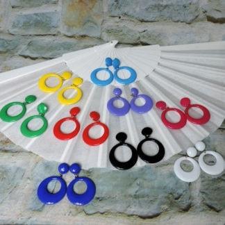plastic Flamenco Earrings