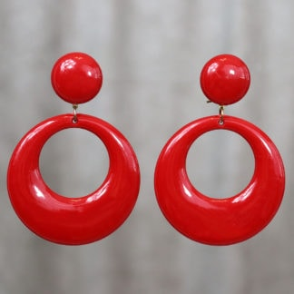 Large Flamenco hoop earrings