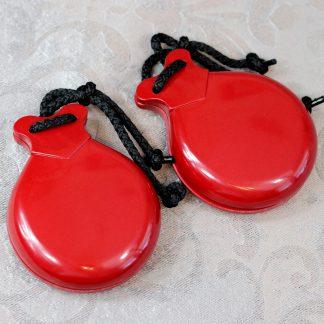 red filigrana castanets