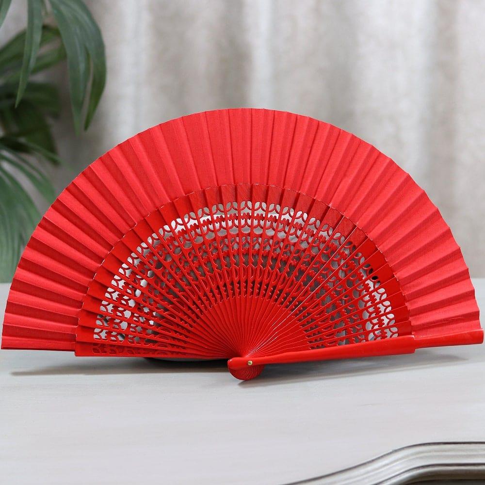 red flamenco fan