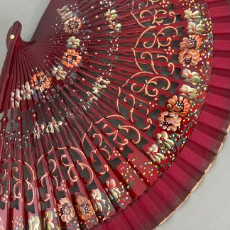 hand painted red fan