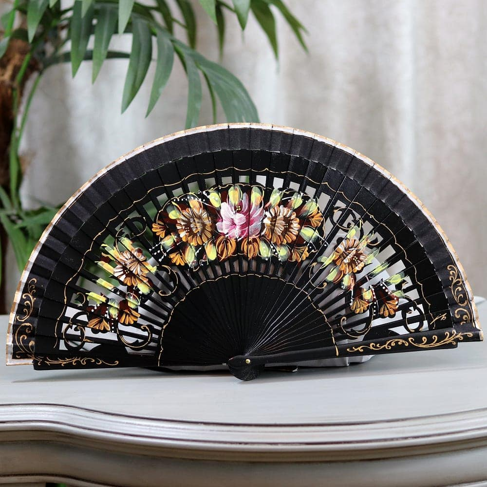 gorgeous hand painted fan