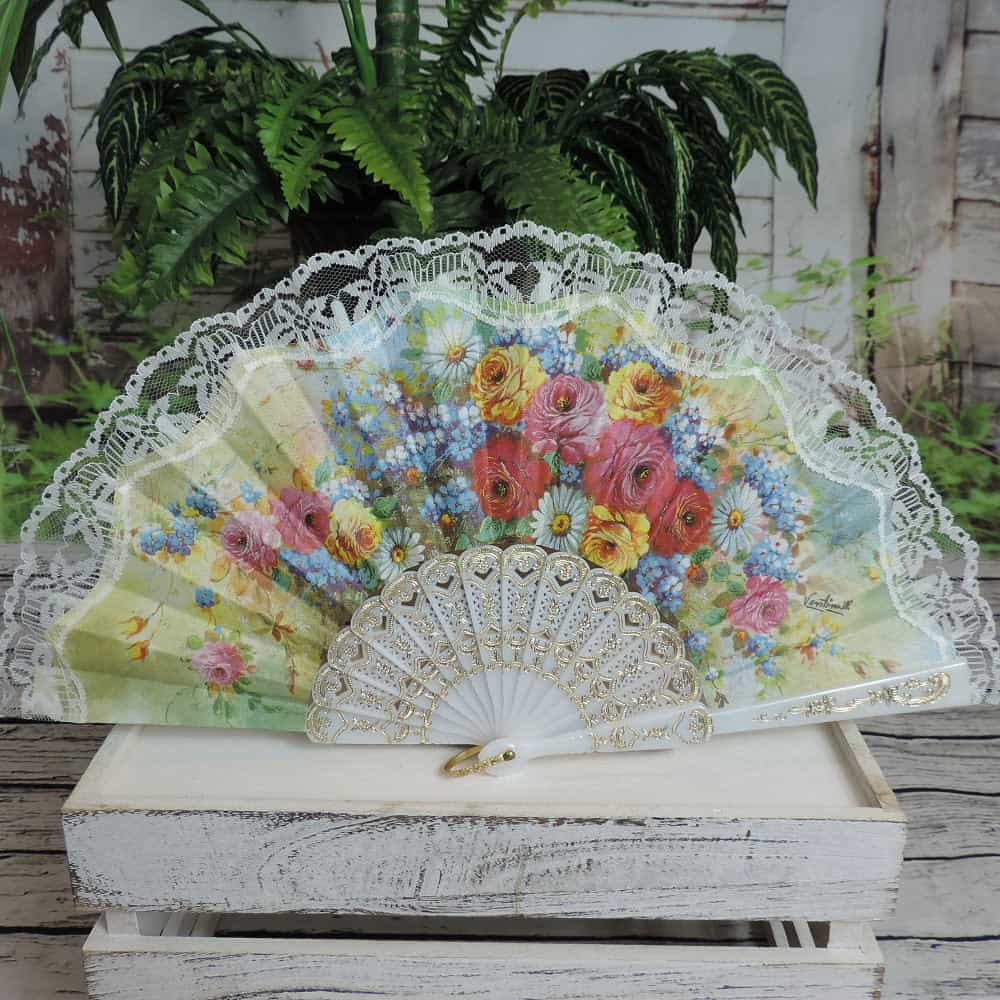 Spanish screen printed fans