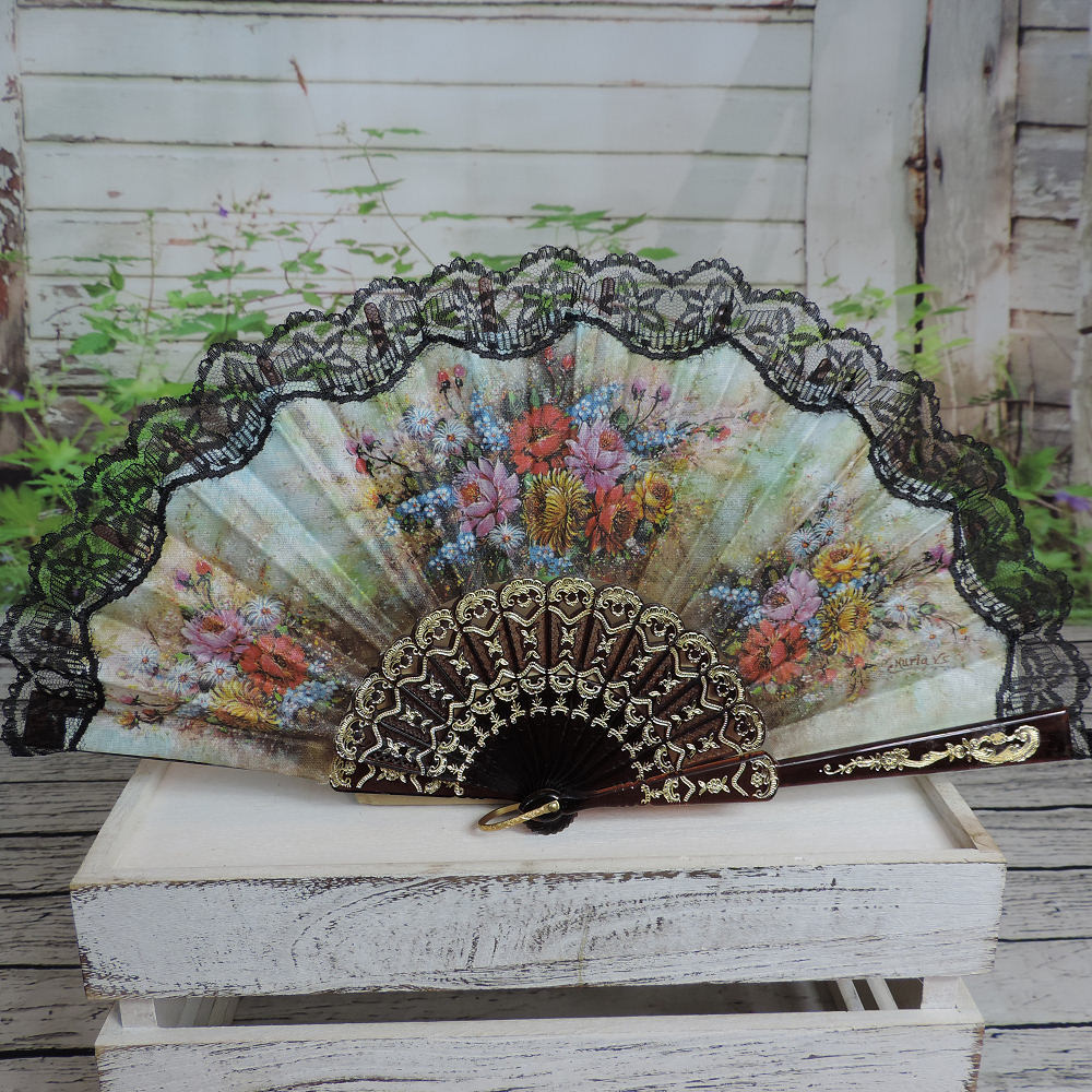 traditional printed Spanish fan