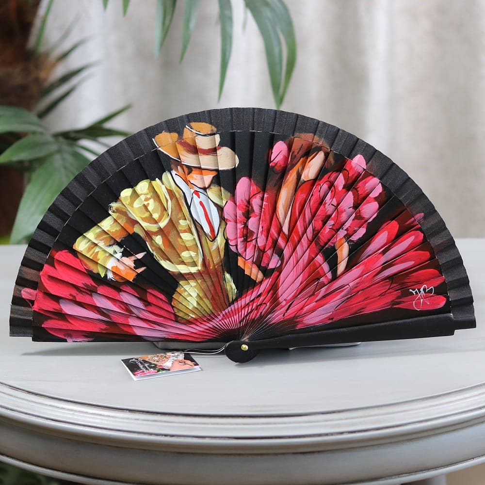 Hand painted Spanish fan