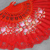 painted lace hand fan