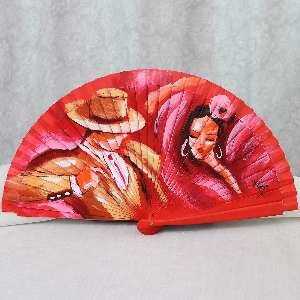 Hand painted flamenco fan