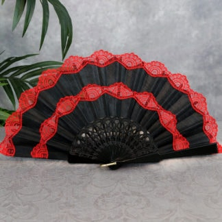 Spanish fan with red lace