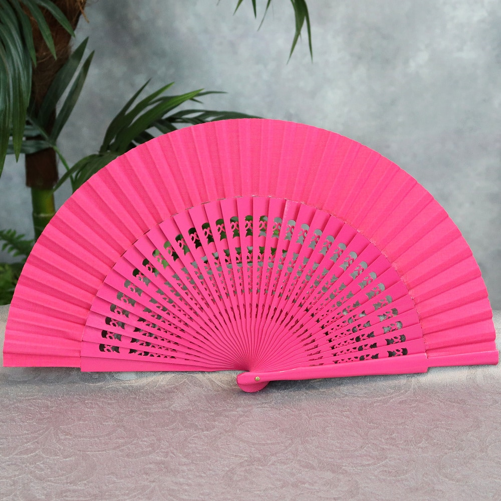 Solid color Spanish fan