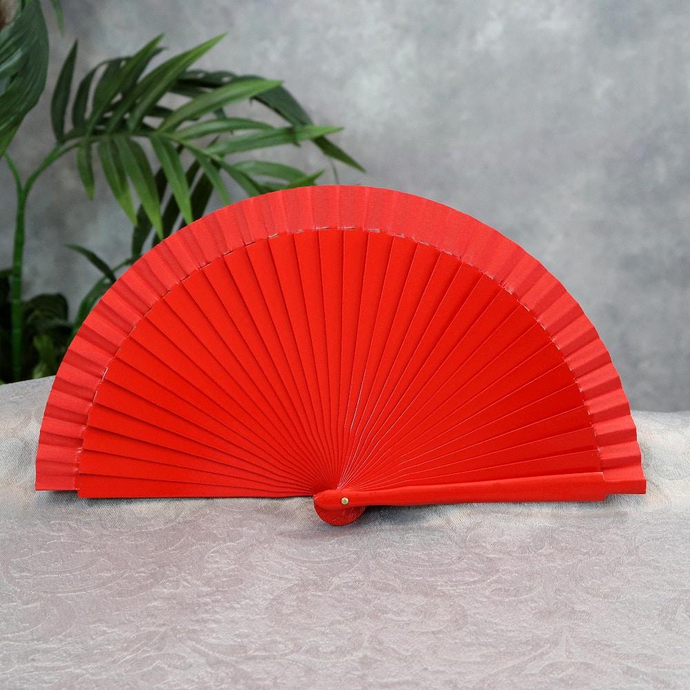 small wood fan