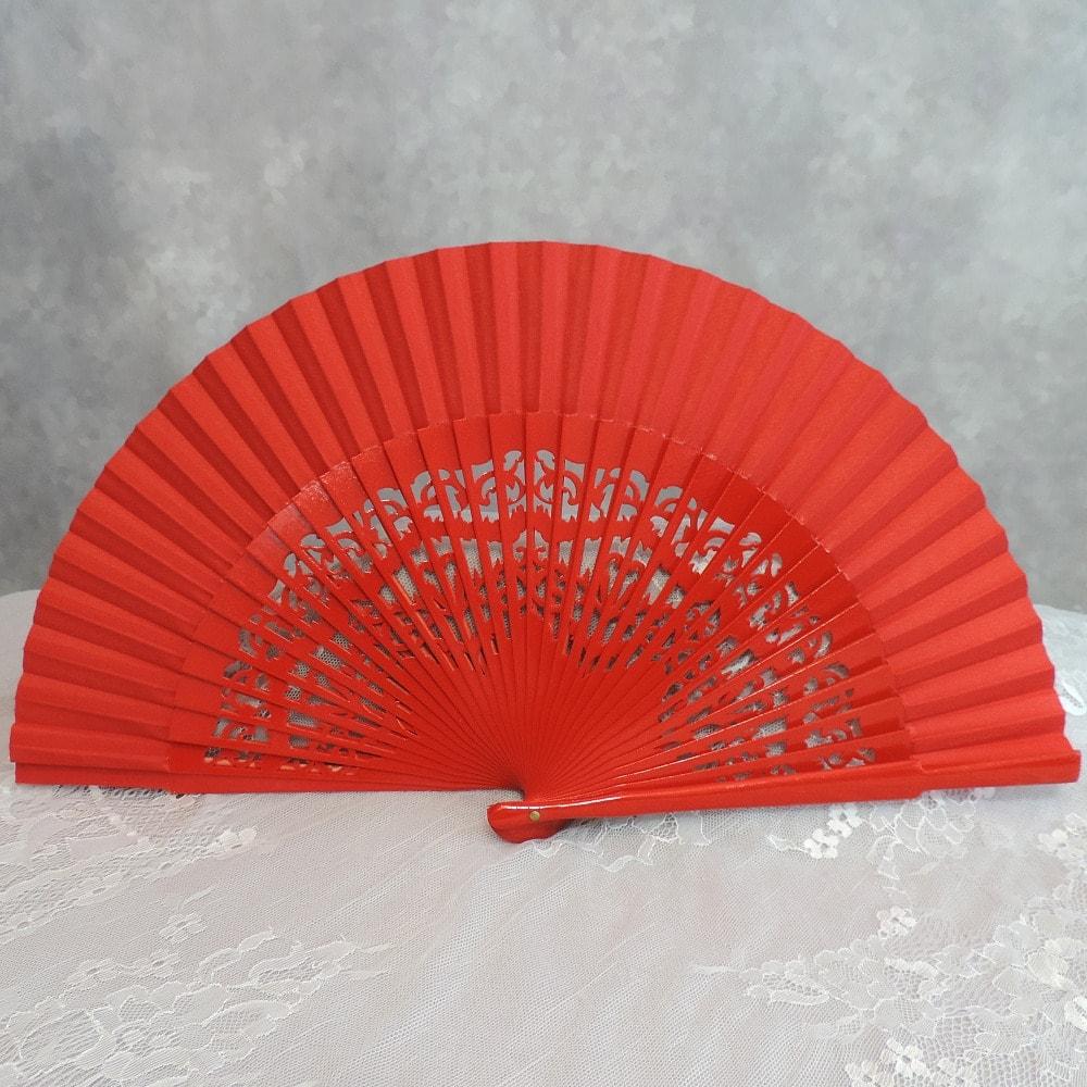 carved wood fans