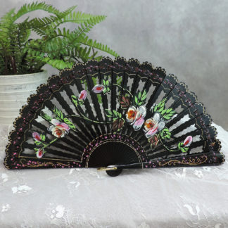 Carved wood fan