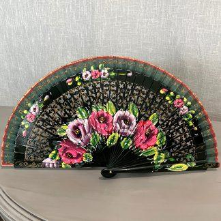 dark green Spanish fan