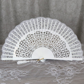 lace bridal fan