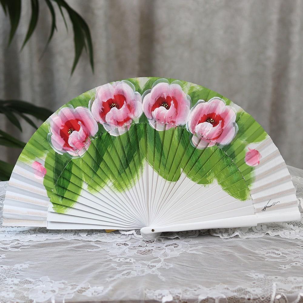 hand painted fan