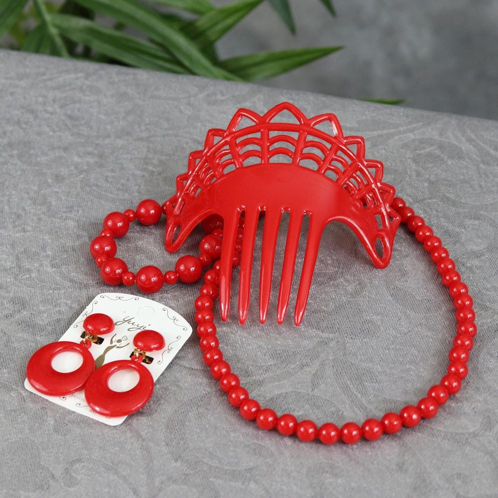 Girls flamenco accessory set