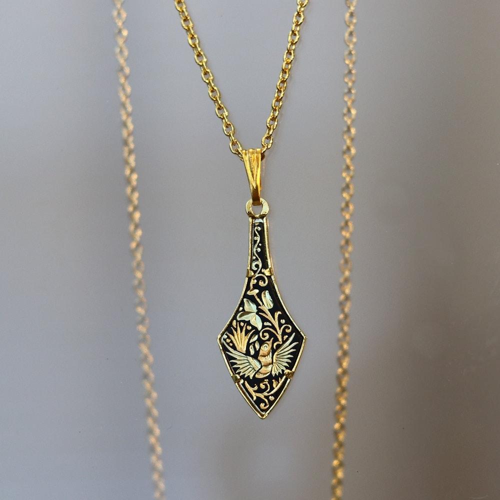 damascene pendant