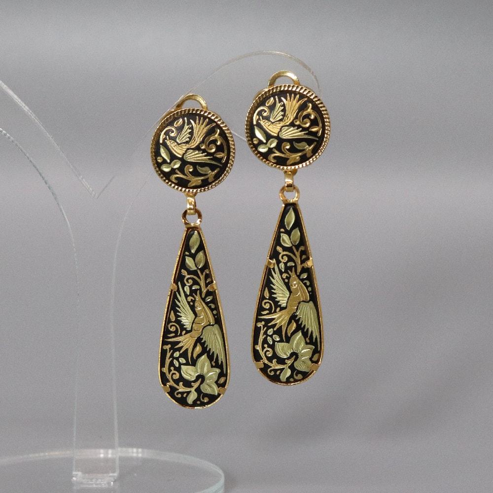 tear drop damasquino earrings