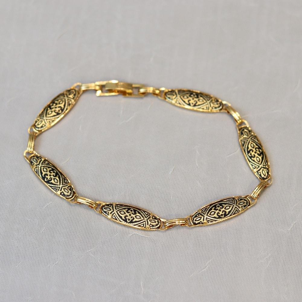 damascene oval link bracelet
