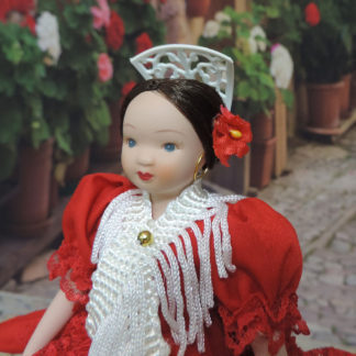 small spanish porcelain doll