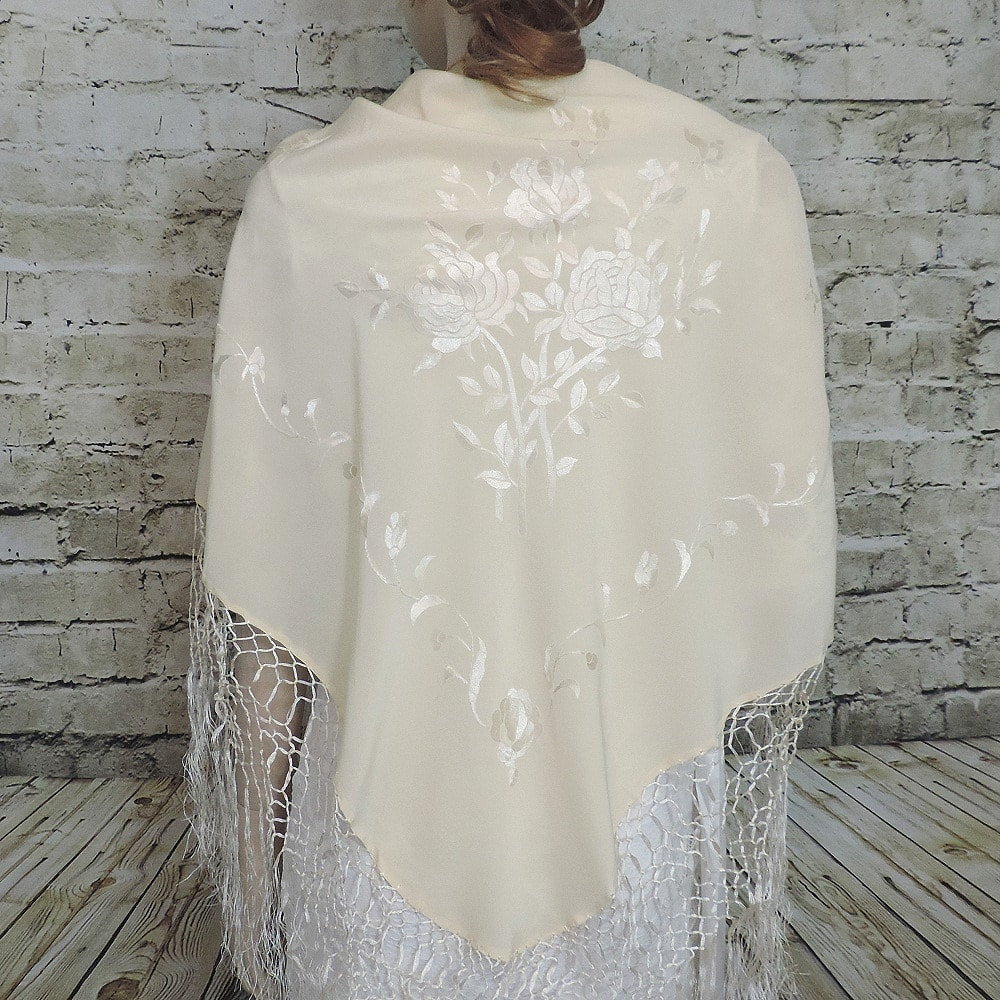Spanish silk shawl