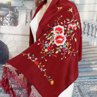 rectangular silk shawl